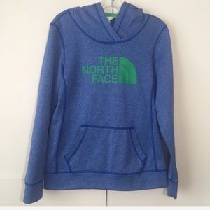 The North Face Graphic Blue Green Hoodie